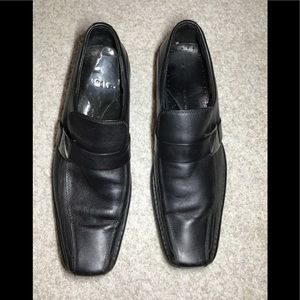 Kenneth Cole black leather loafers shoes size 10